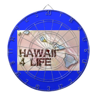 """Hawaii 4 Life"" State Map Pride Design Dartboard"