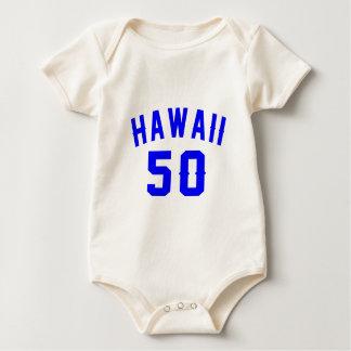 Hawaii 50 Birthday Designs Baby Bodysuit