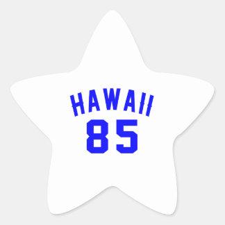 Hawaii 85 Birthday Designs Star Sticker