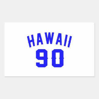 Hawaii 90 Birthday Designs Rectangular Sticker