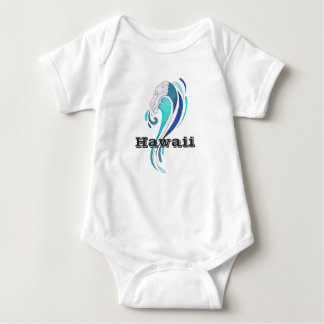Hawaii Abstract Big Wave Baby Bodysuit
