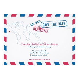 Hawaii Air Mail Wedding Save The Date 13 Cm X 18 Cm Invitation Card