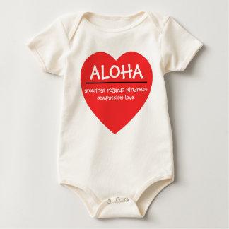 Hawaii Aloha Heart Baby Bodysuit
