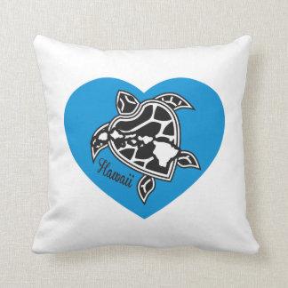 Hawaii Aloha Turtle Throw Pillow
