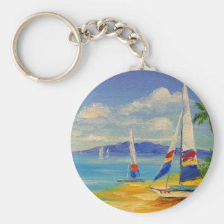 Hawaii Basic Round Button Key Ring