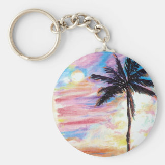Hawaii Basic Round Button Key Ring