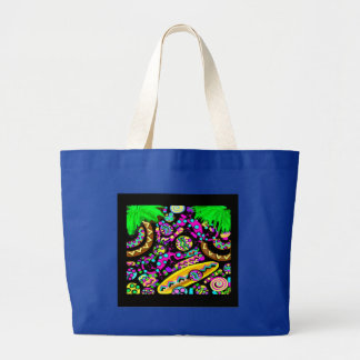 HAWAII  BEACH ART LARGE TOTE BAG