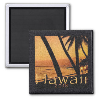 Hawaii Beach Fridge Magnet Evening Sunset Palms