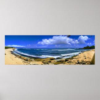 Hawaii Beach Panorama Poster