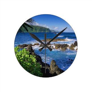 Hawaii Beach Scenery Clocks