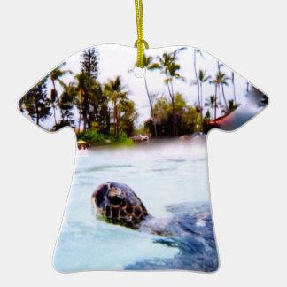 Hawaii Beach Scenery Season's Greetings Ceramic T-Shirt Decoration