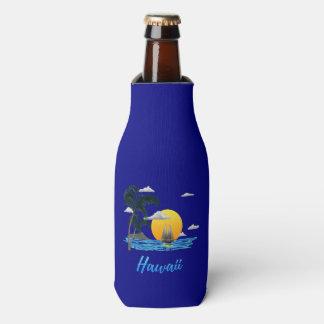 Hawaii Beach Sunset Bottle Cooler