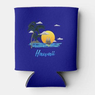 Hawaii Beach Sunset Can Cooler