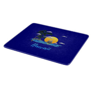 Hawaii Beach Sunset Cutting Board