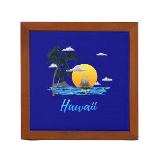 Hawaii Beach Sunset Desk Organiser