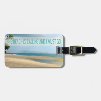 Hawaii Beach | The Beach Is Calling Photograph Luggage Tag