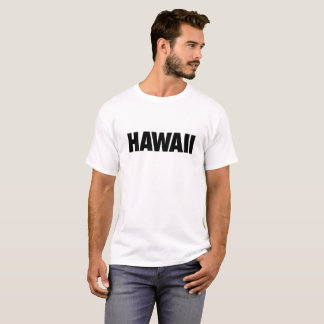 Hawaii Black Text on Light T-Shirt