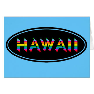 Hawaii Blue Fun Card