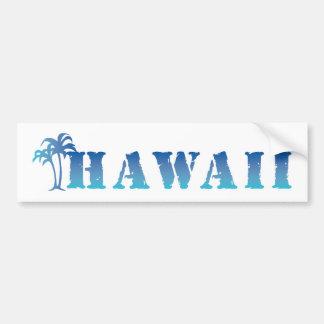 Hawaii blue palm tree bumper sticker