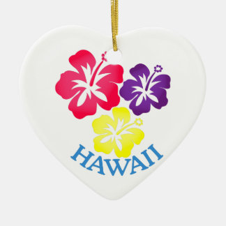 Hawaii Ceramic Ornament