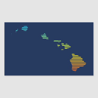 hawaii chill fade rectangular sticker