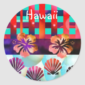 Hawaii Classic Round Sticker