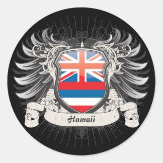 Hawaii Crest Classic Round Sticker