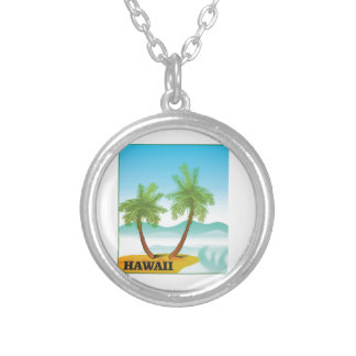 Hawaii cruise silver plated necklace