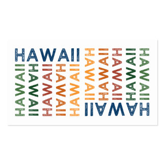 Hawaii Cute Colorful Business Card Template