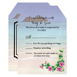 Hawaii Destination Wedding RSVP Card