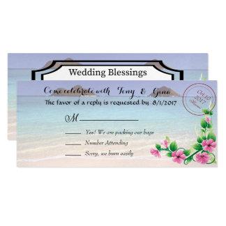 Hawaii Destination Wedding RSVP Cards