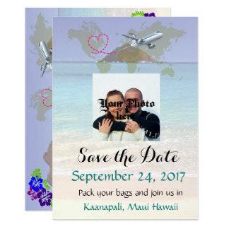 Hawaii Destination Wedding Save the Date Card