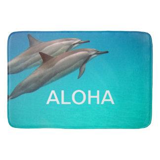 Hawaii Dolphins with Aloha Bath Mat
