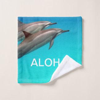 Hawaii Dolphins with Aloha Bath Towel Set