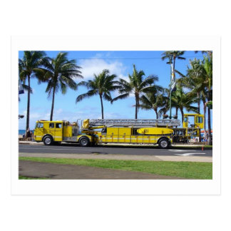 Hawaii Fire Truck Postcard