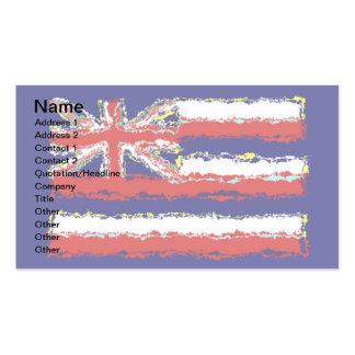 HAWAII FLAG BUSINESS CARD TEMPLATE