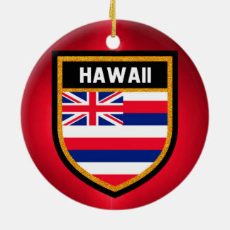 Hawaii Flag Round Ceramic Decoration