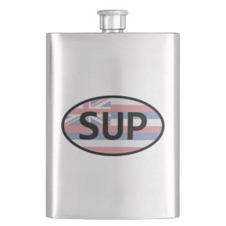 Hawaii Flag Standup Paddling Hip Flask