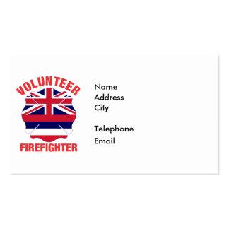 Hawaii Flag Volunteer Firefighter Cross Pack Of Standard Business Cards
