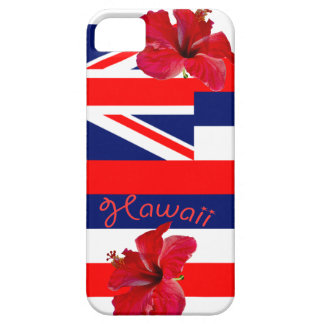 Hawaii Flag with Red Hibiscus Barely There iPhone 5 Case