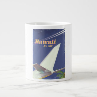 Hawaii Flight vintage vacation print Large Coffee Mug