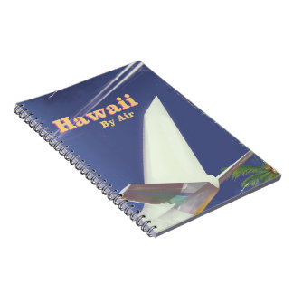 Hawaii Flight vintage vacation print Spiral Notebook