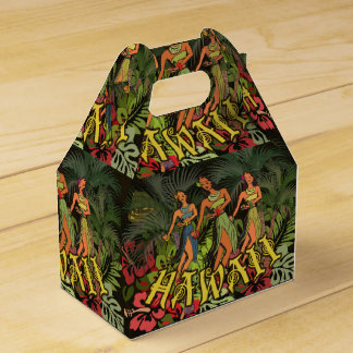 Hawaii Floral Earthy Graphic Design Art Flowers Favour Box