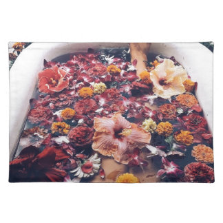 HAWAII FLORAL FLOWER BATH PLACEMAT