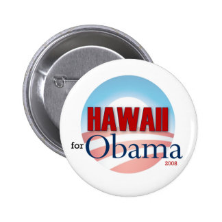 Hawaii for Obama 6 Cm Round Badge