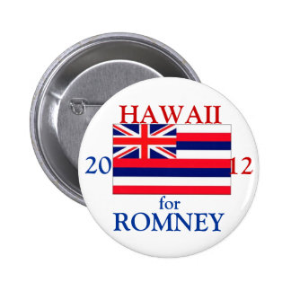 Hawaii for Romney 2012 6 Cm Round Badge