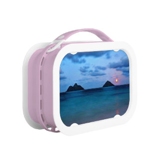 Hawaii Full Moon Rise Island Beach Lunch Box