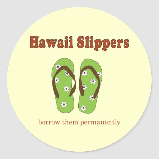 Hawaii Gifts Round Stickers