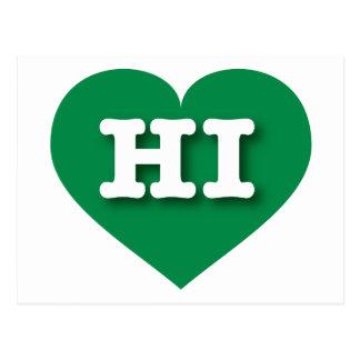 Hawaii Green Heart - Big Love Postcard
