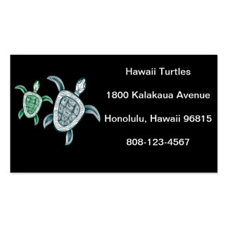 Hawaii Green Sea Turtle Double-Sided Standard Business Cards (Pack Of 100)